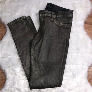 GUESS Power Ultra Skinny Jeans Size 27 Metallic